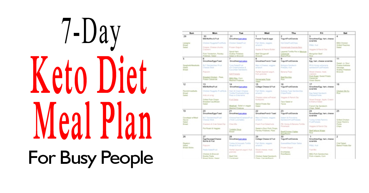 keto diet for busy people
