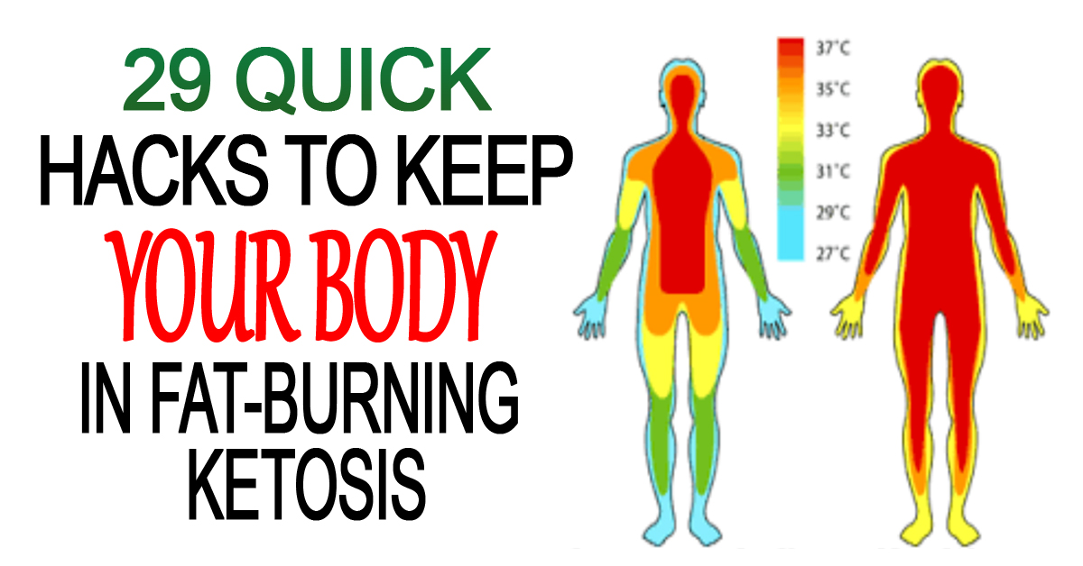 29 Quick Hacks To Keep Your Body In Fat-Burning Ketosis