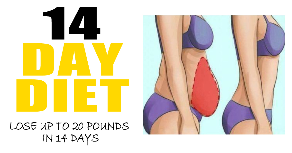 How To Lose 30 Pounds Or More With This 14 Day Diet