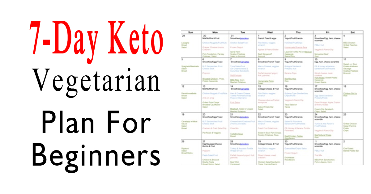 7-Day Keto Vegetarian Plan For Beginners