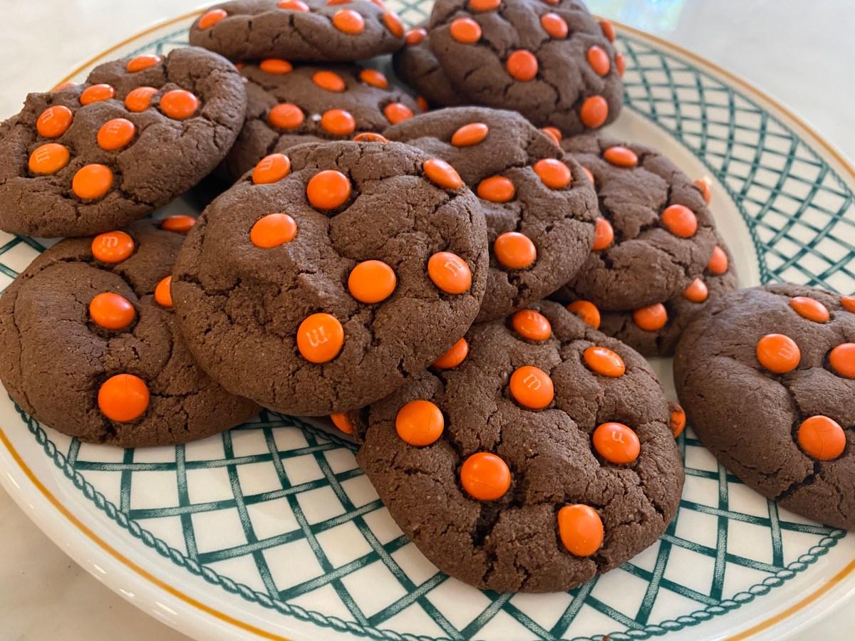 Gluten Free Halloween Chocolate M&M Cookies