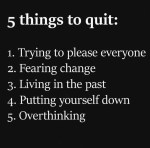 5 THINGS TO LET GO!