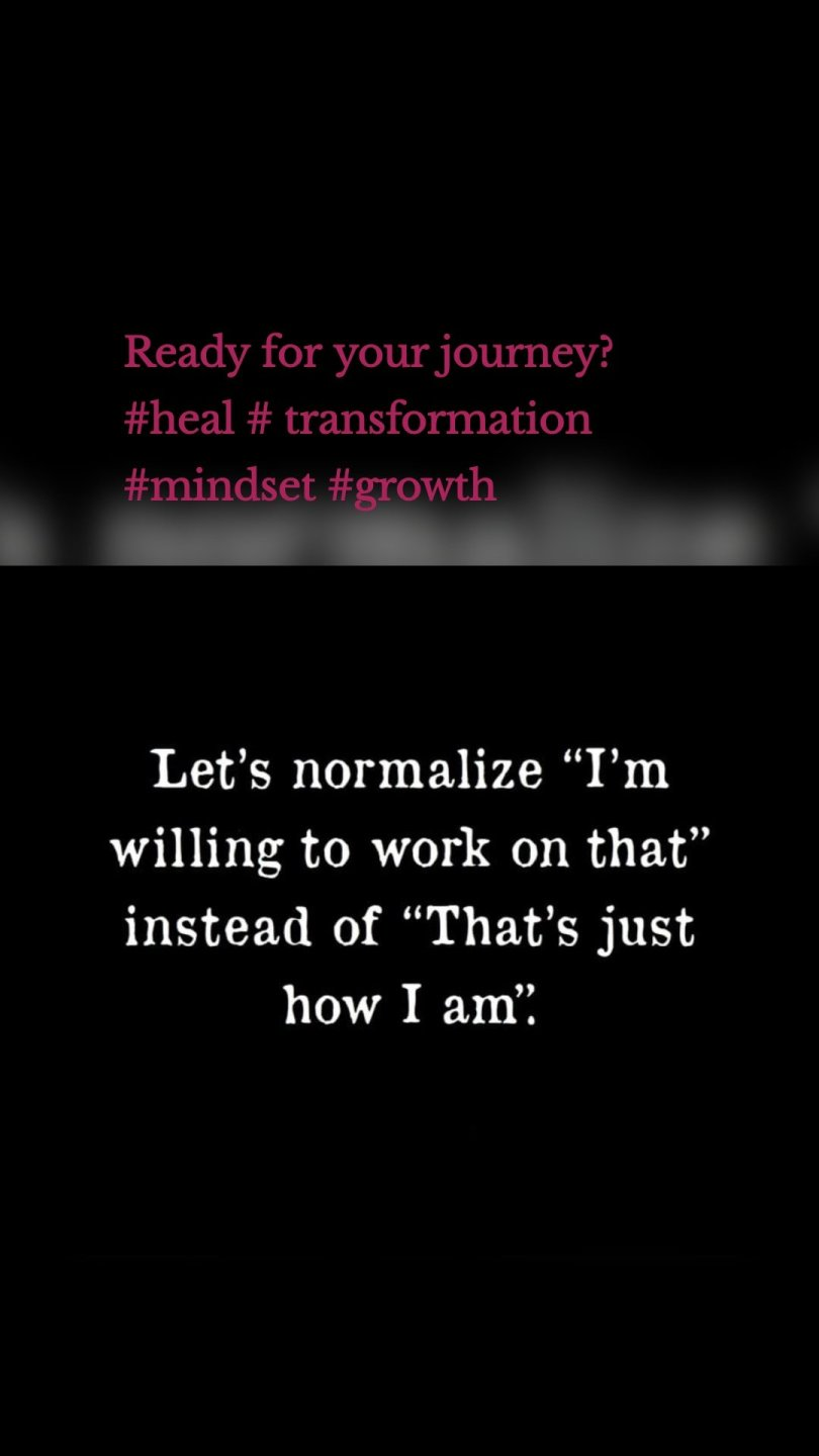 Ready for your journey?  #heal # transformation #mindset #growth