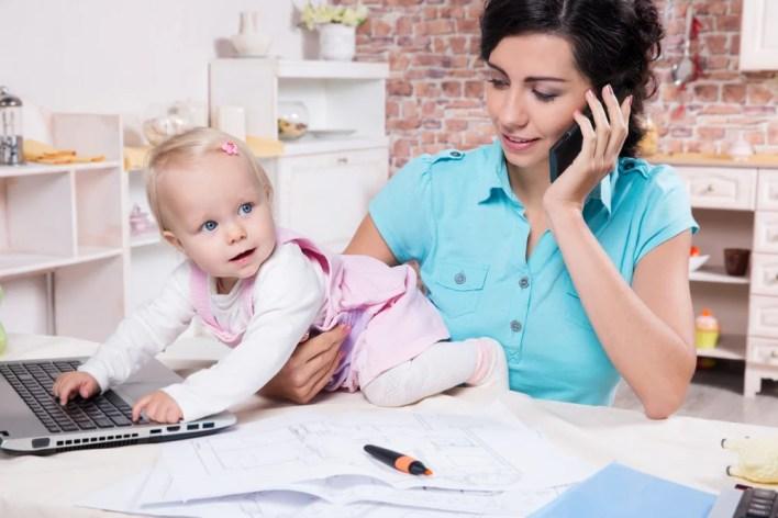 Busy Mom Multitasking