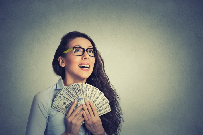 Girl Getting a Rebate
