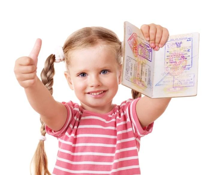 Young Child Getting Passport