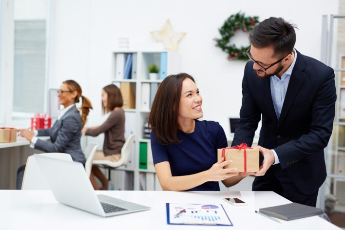 Employer Offering Gift to Employee