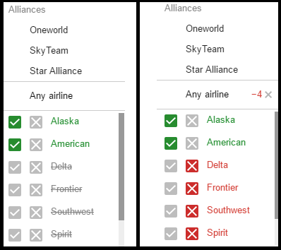 Google_Flights_Filter_Results_Airline_and_Alliance_Side by Side