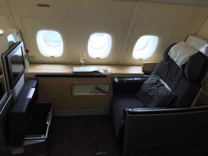 Lufthansa's luxurious A380 in First Class.