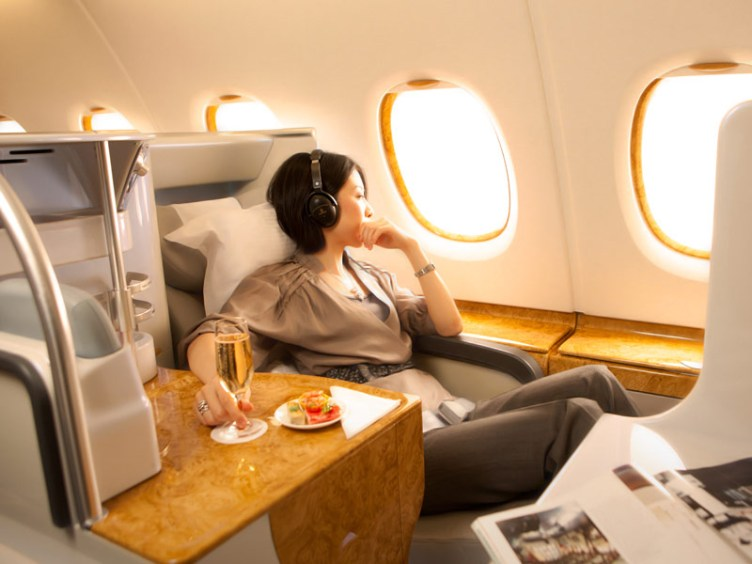 Try Emirates business class by using Malaysia Airlines' Enrich miles. Image courtesy of emirates.com