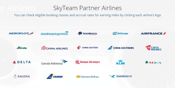 korean air skyteam partner airlines