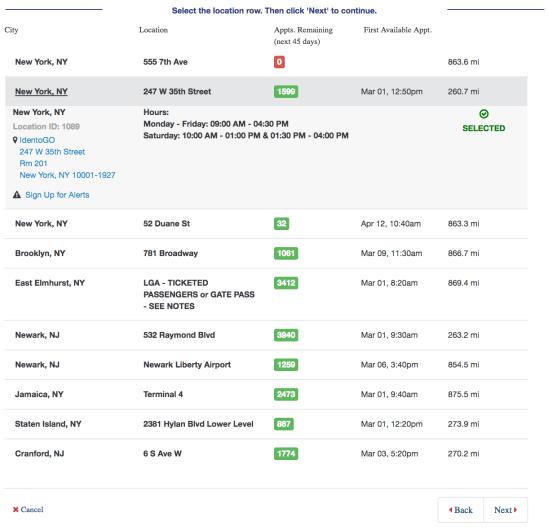 TSA PreCheck Interview Schedule