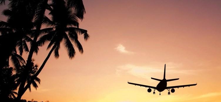 Airplane Sunset