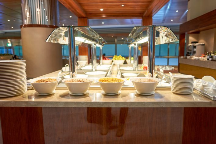 Emirates Business Class Lounge Dining