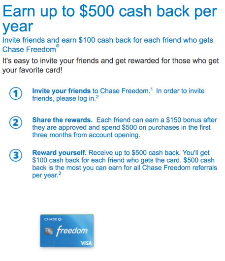 Chase Referral Details