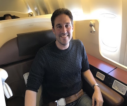 Japan Airlines First Class - flown by Dave Grossman who redeemed his points for JAL First!