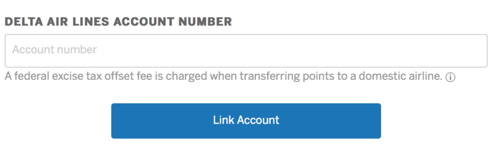 American Express Transfer Link Account