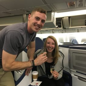 Deric with His Girlfriend on Delta One