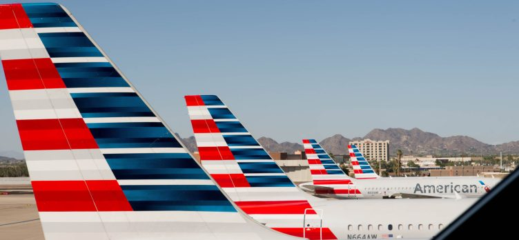 American Airlines Planes At Gate