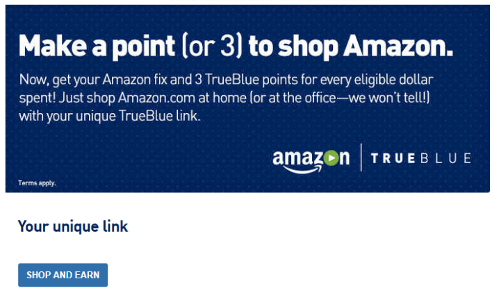 Amazon TrueBlue Shopping