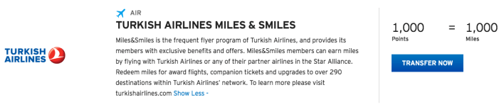 Turkish Airlines Thank You Points