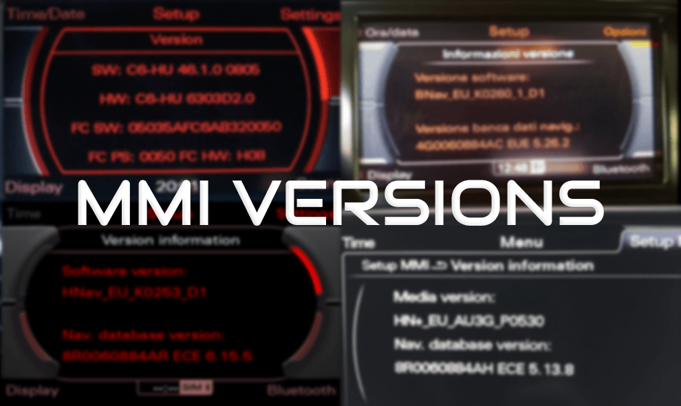 How to check what MMI do I have? MMI 2G, 3G, 3G+ ? - Types