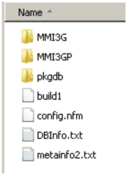 File structure on SDC ARD