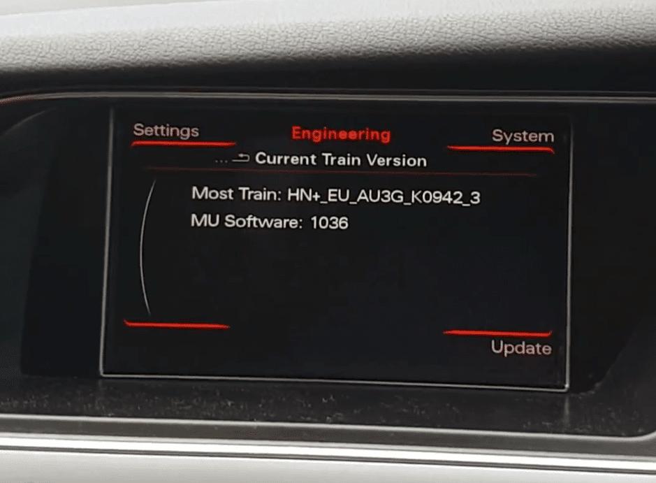 MMI 3G Engineering menu