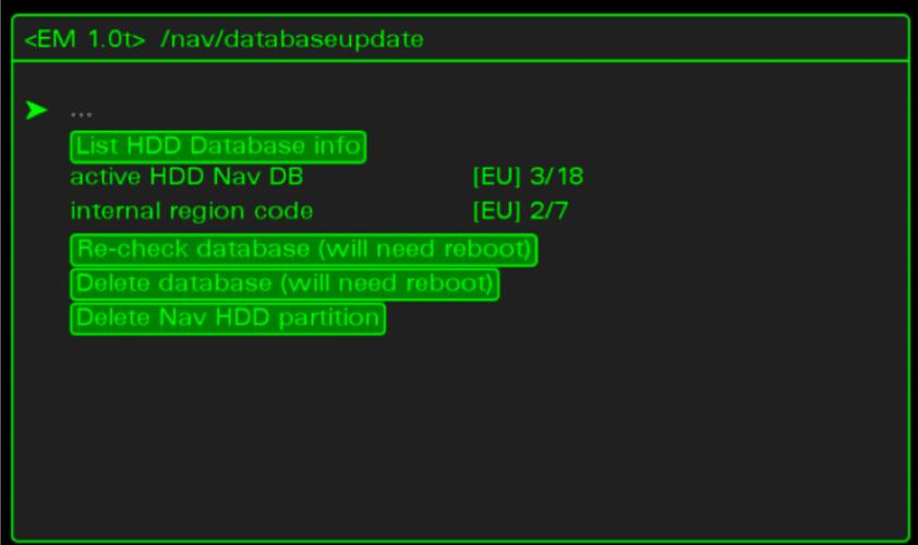 Remove old maps via Hidden green menu