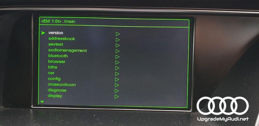 Hidden green menu
