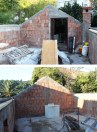 Šipan summer house - beginning of the roof reconstruction