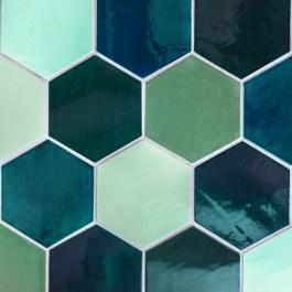 Mercury Mosaics - Honeycomb tiles
