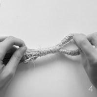 DIY Macrame plant hanger: Gathering knot | upgradesign