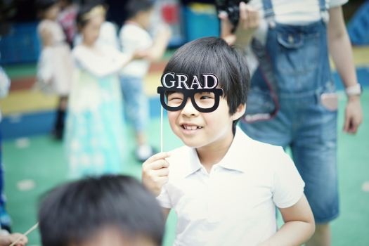 Student with Graduate Mask - Pan Xiaozhen