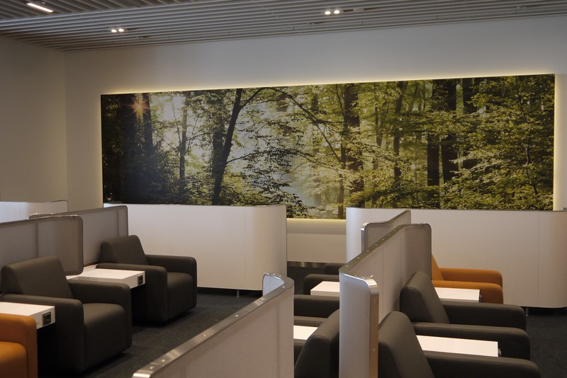 """Wald"" auch in der Business Class Lounge.."