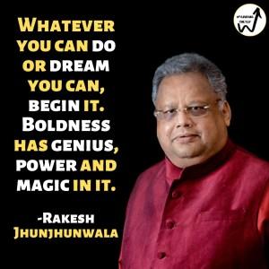 quotes from the bull Rakesh Jhunjhunwala