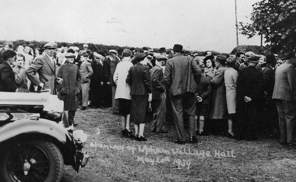 Upham Village Hall - May 20th1939