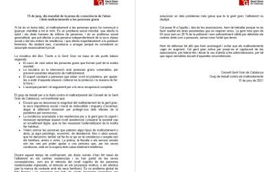 15 DE JUNY: DIA MUNDIAL DE LA PRESA DE CONSCIÈNCIA DE L'ABÚS I DELS MALTRACTAMENTS A LES PERSONES GRANS