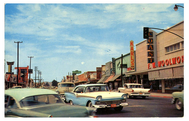 downtown reseda postcard