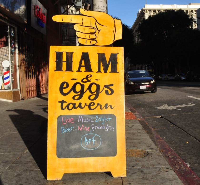 Beer and friendship, but no art at the Ham and Eggs Tavern