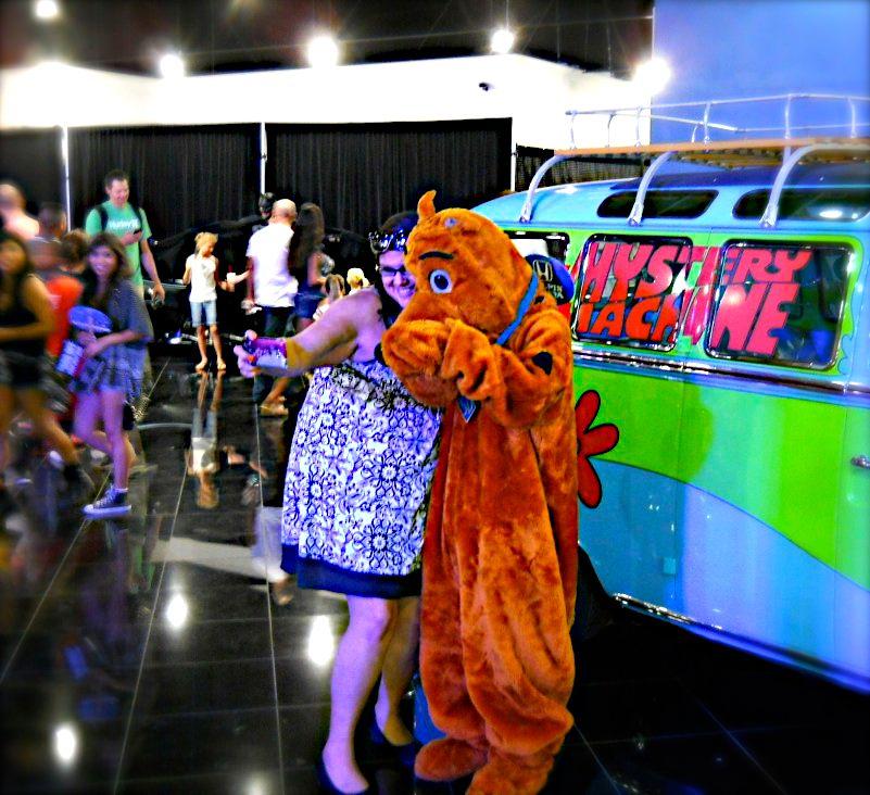 The Scooby van, always a big hit with the ladies