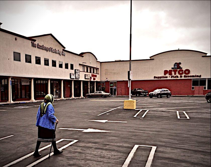 BevMo parking lot, 8 AM