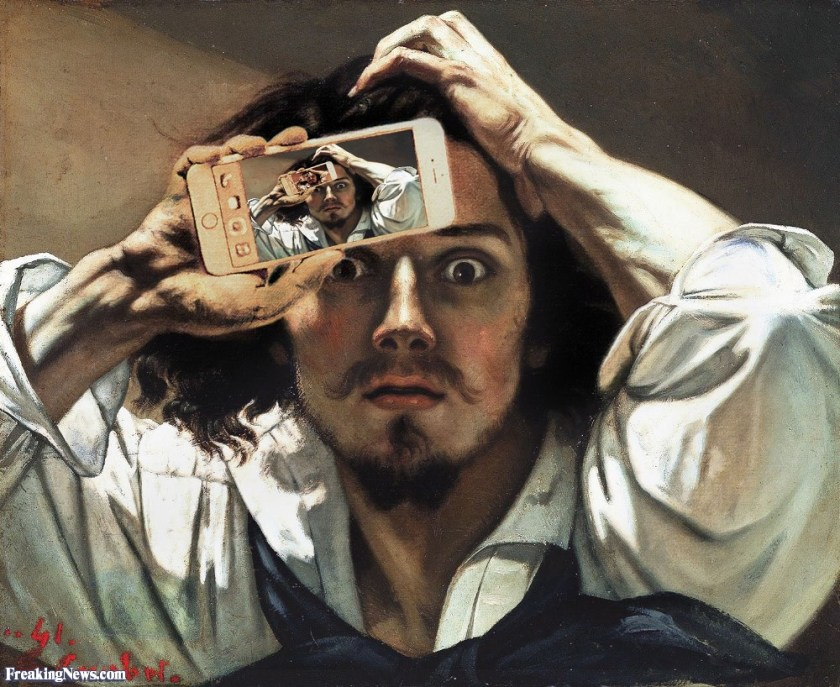 Man-Taking-a-Selfie-in-a-Courbert-Painting-124345