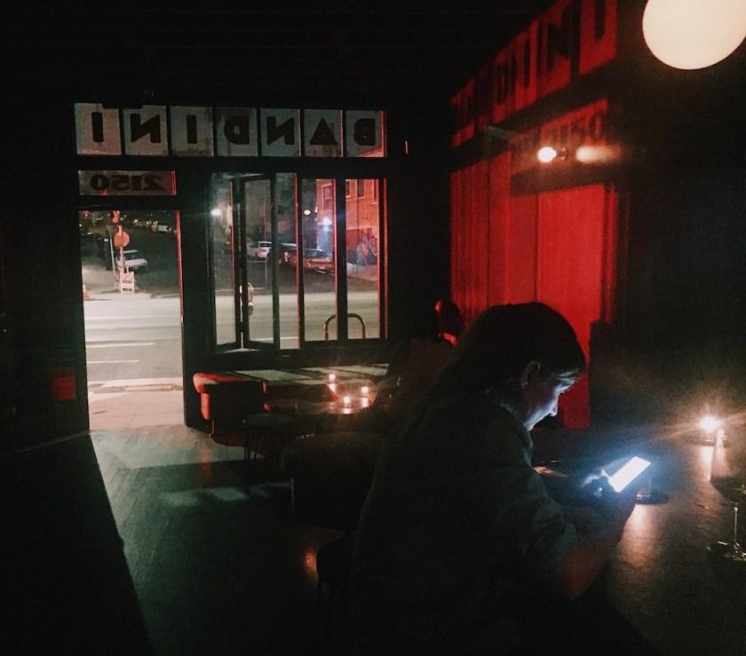 Bar Bandini, 1:30 am