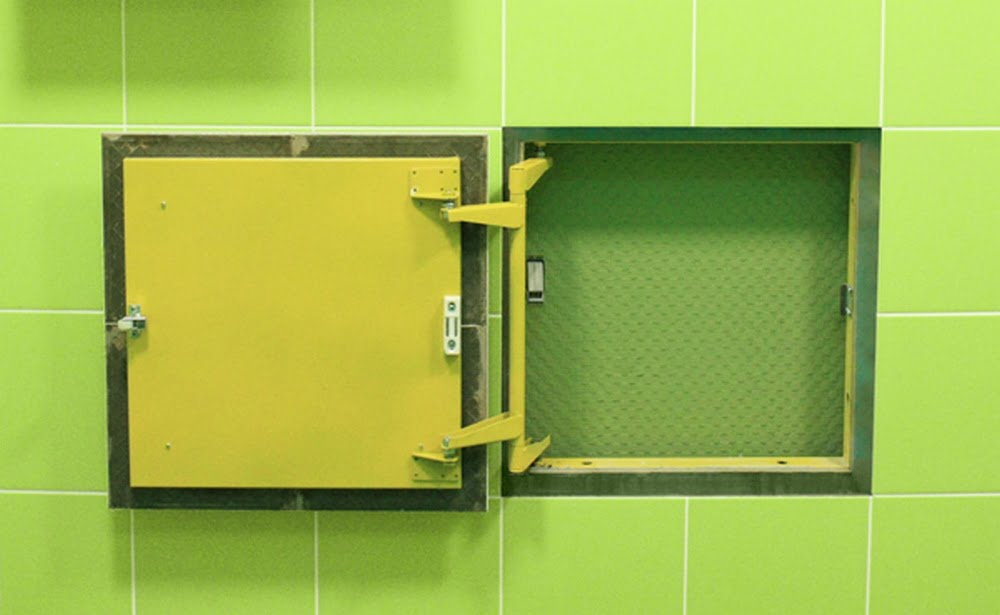Installation of The Inspection Hatch or plumbing access panel