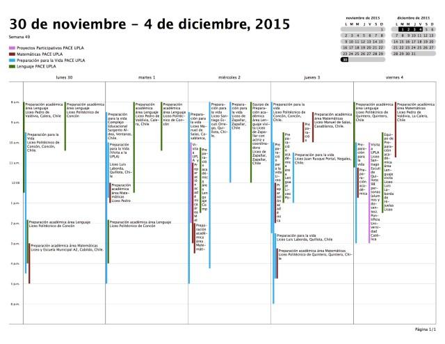 Calendario — Semana — 30-11-15 a 06-12-15