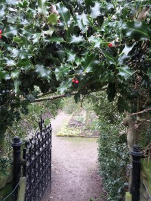 Festive holly gateway