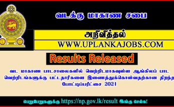 Results: English Graduate Teaching Exam 2021