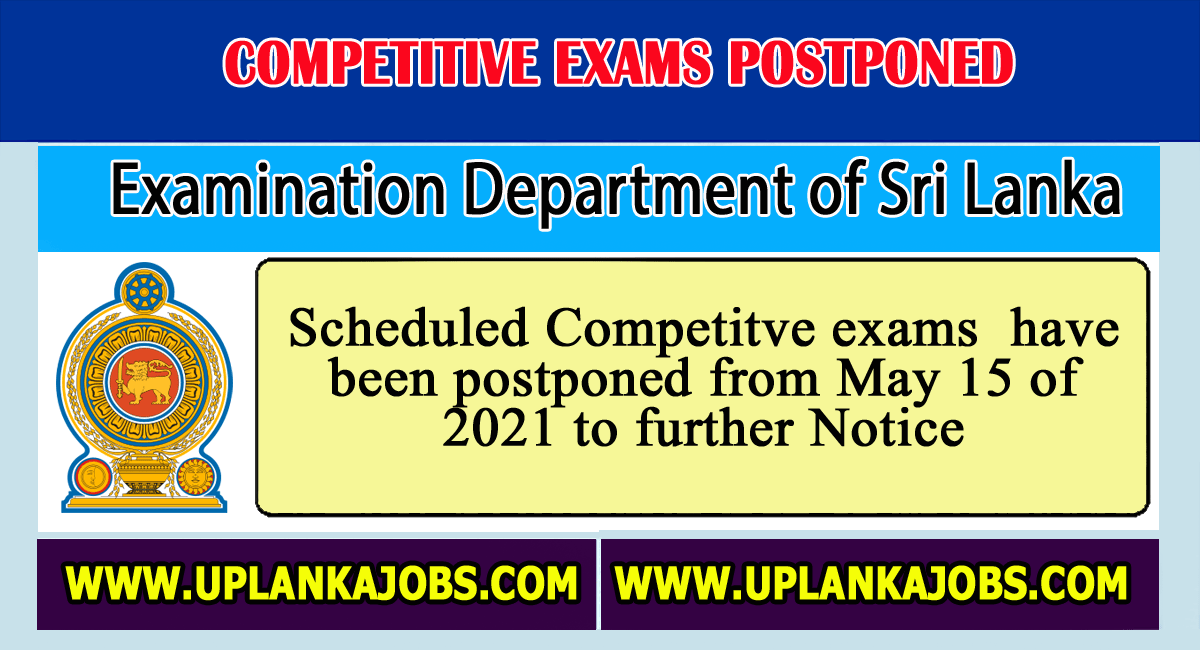 2021 May Month Exams Postponed Until Further Notice