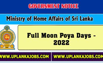 Full Moon Poya Days 2022